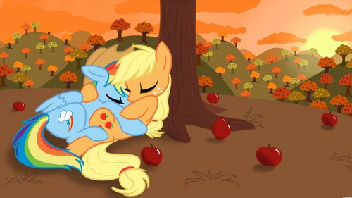 regenbogen Dash and AppleJack <3