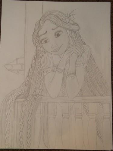 Rapunzel on her Balcony