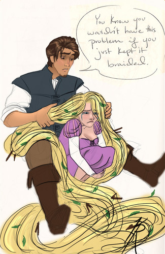 Really Tangled; You know you wouldn't have this problem if just kept it braided