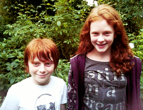 The New Generation of Harry Potter wallpaper possibly with a blouse and a portrait called Rose and Hugo