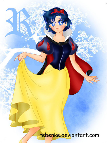 Sailor Mercury as Snow White