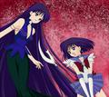 Sailor Saturn VS Mistress 9 - anime fan art