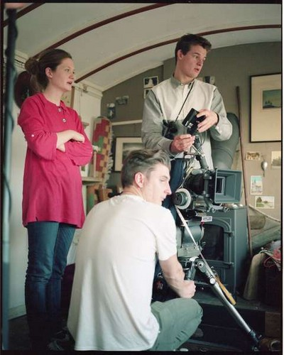 Separate We Come, Separate We Go on set