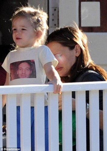 Sera with mommy and daddy's pic t-shirt