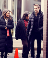 Shane  & Maggie on set - shane-west-and-maggie-q photo