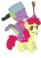 Spike and Apple Bloom
