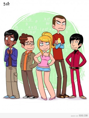 The Big Bang Theory wallpaper containing anime entitled TBBT  Fan Art :D