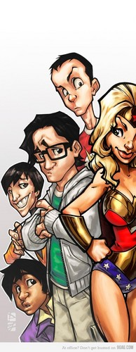 The Big Bang Theory wallpaper containing anime called TBBT  Fan Art :D