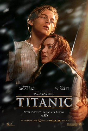 Titanic wallpaper possibly containing a sign and a portrait titled TITANIC Movie Poster (3D Re-released, 2012)
