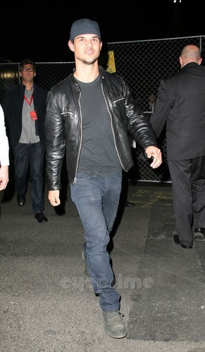 Taylor Lautner outside Cirque du Soleil Event in Hollywood, Jan 20
