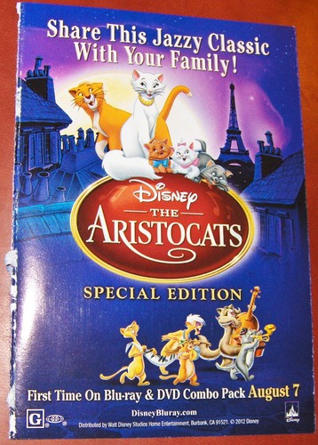 The Aristocats - Blu-Ray News