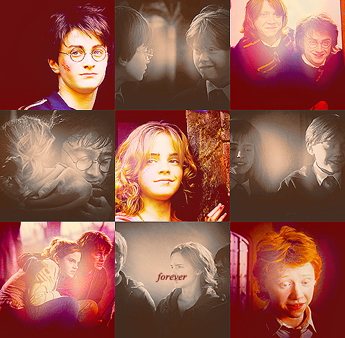 The Golden Trio (Harry, Ron, Hermione)