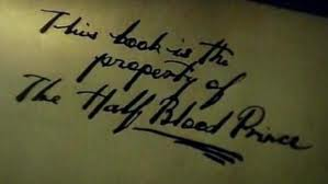 The half blood prince's book