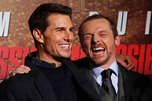 Tom Cruize & Simon Pegg at the ghost protocol premiere