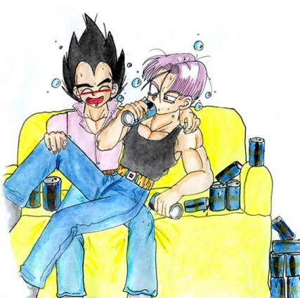Trunks and Vegeta get Piss Drunk!