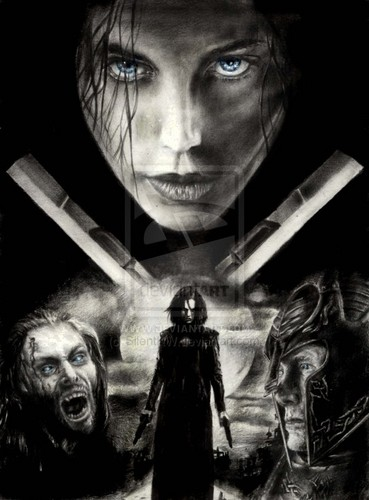 Underworld fond d'écran with a sign titled Underworld: Evolution