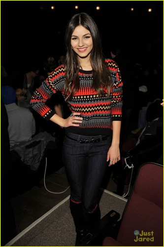 Victoria Justice wallpaper probably containing a pantleg, long trousers, and a hip boot entitled Victoria Justice's 'First Time' at Sundance