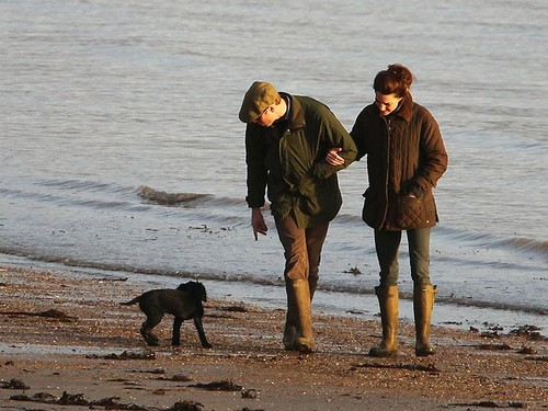 William and Kate with new dog