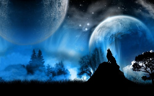 Fantasy wallpaper titled Wolf HD