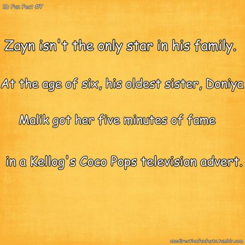 Zayn Facts