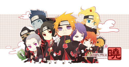 Naruto Shippuuden wallpaper possibly with anime entitled akatsuki