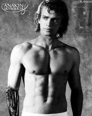 Anakin Skywalker achtergrond with a six pack and skin titled anakin top, boven off