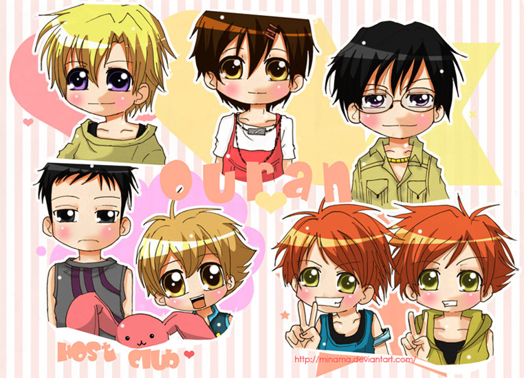 Ouran high school host club ouran cute pic of host clud group
