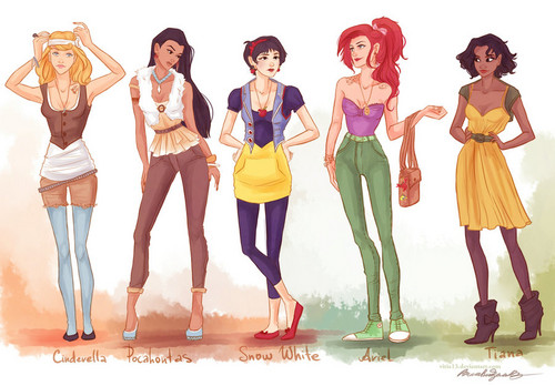 fashion Disney princesses