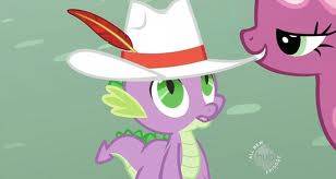 giving spike a hat
