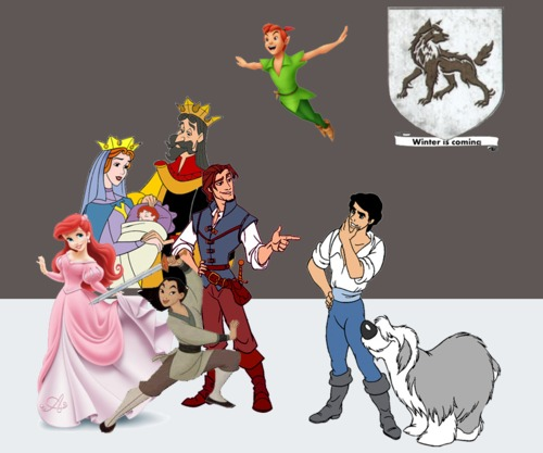 GoT with disney characters!- House Stark