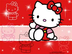 hello kitty in red