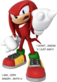 knuckles is very mad at u XD - hahahahahahaha photo