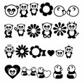 pandas - cartoon-pandas photo