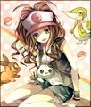 pokemon girl - pokemon-black-and-white photo