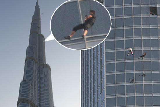 tom cruise at the top, boven of burj khalifa