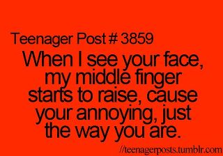 'Cause your annoying, just the way 你 are :D