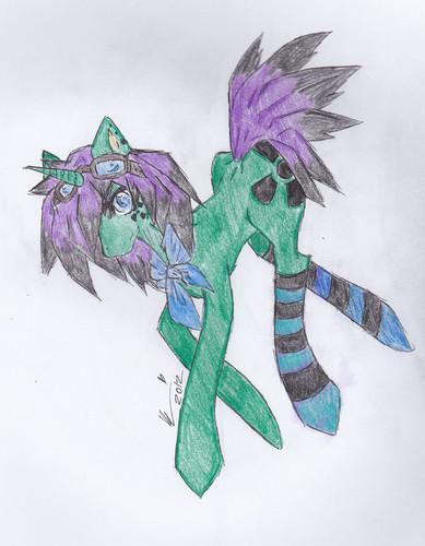 (Havent name this gppony, pony yet~) Rave pony, Rave~!