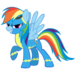 -RainbowDash- becomes a wonderbolt?! - my-little-pony-the-wonderbolts icon