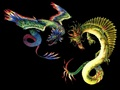 Amphiptere and Dragon - mythical-creatures wallpaper