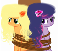 AppleJack and Twilight