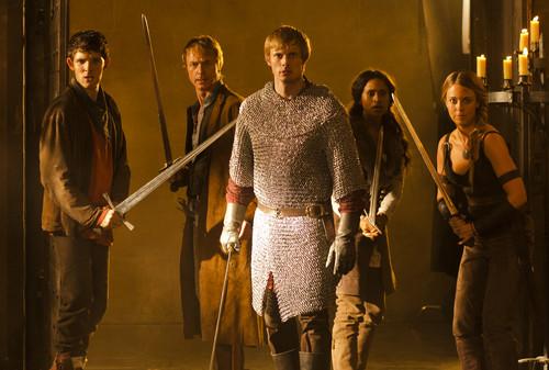 Arthur, Merlin, Gwen, Tristan & Isolde