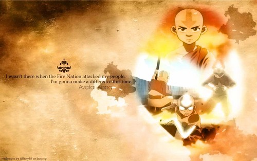 Avatar: The Last Airbender wallpaper containing anime entitled Avatar Aang