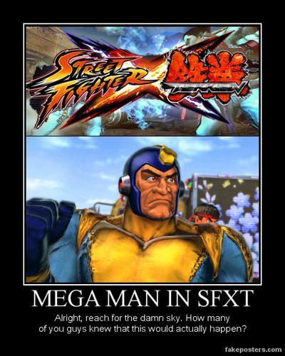 Bad Box Art Mega Man in سٹریٹ, گلی Fighter X Tekken
