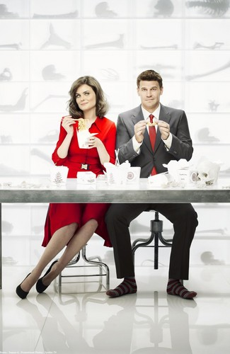 Bones wallpaper containing a business suit called Booth and Bones