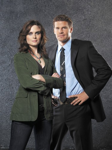 Temperance Brennan karatasi la kupamba ukuta with a business suit, a suit, and a two piece titled Booth and Bones