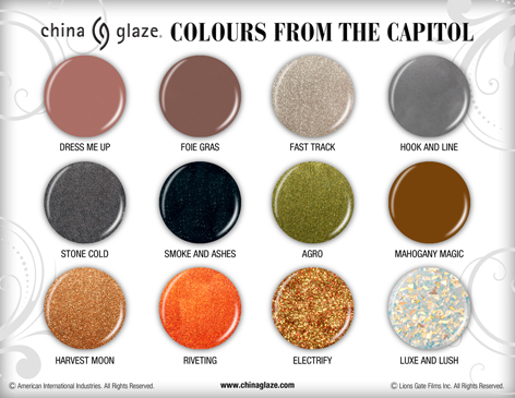 The Hunger Games wallpaper called Capitol colors by China glaze