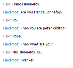 Cleverbot. XD