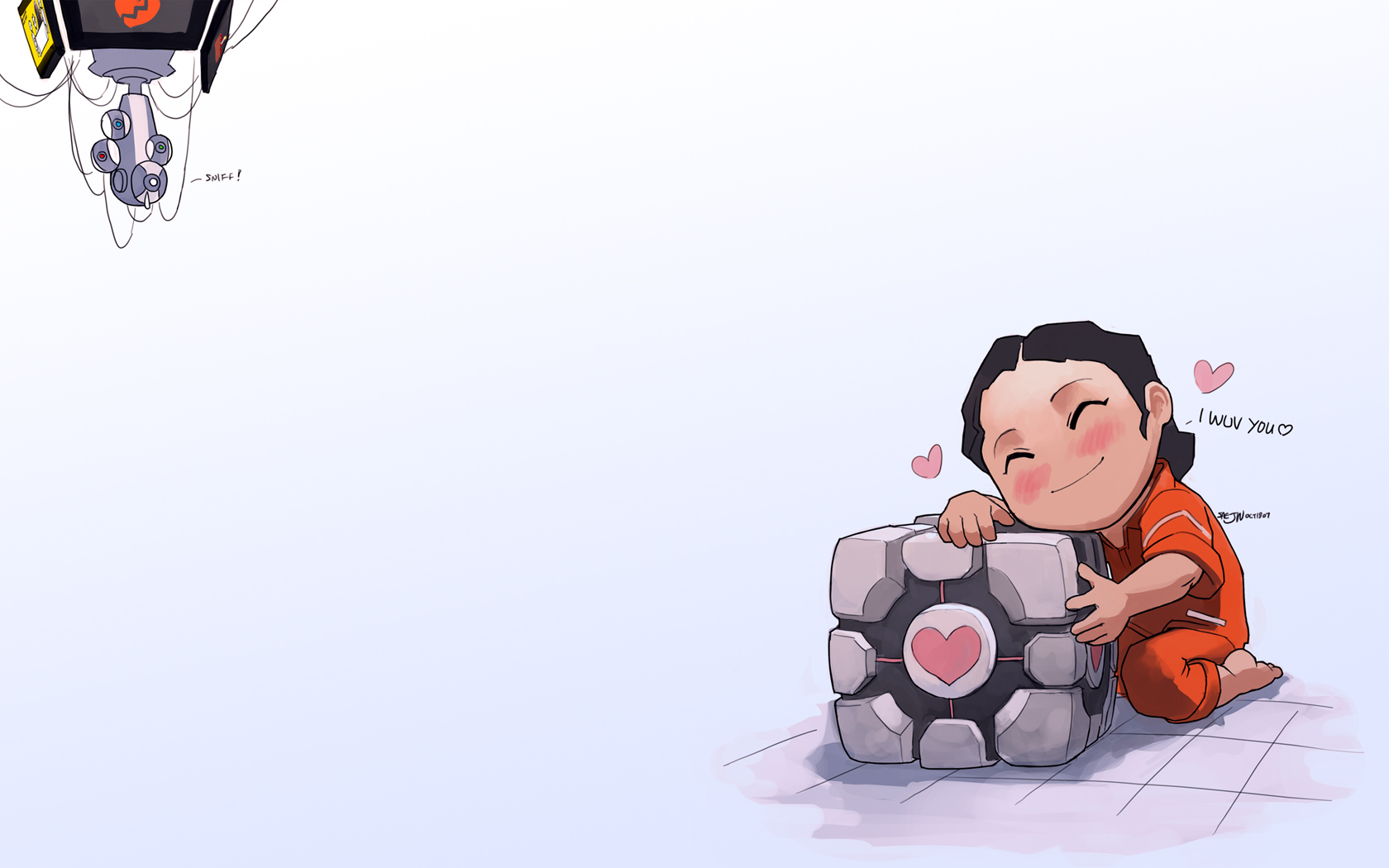 Portal 2 Images Companion Cube HD Wallpaper And Background Photos