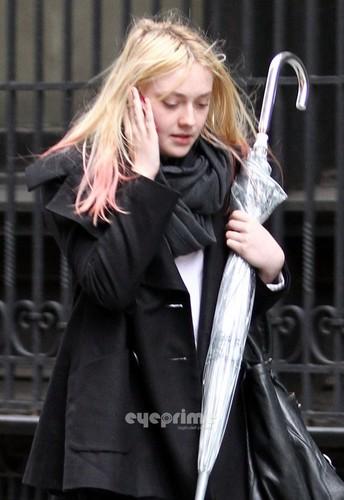 Dakota Fanning seen around in New York, Jan 27
