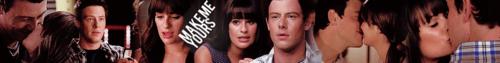Finn and Rachel Season 3 Banner